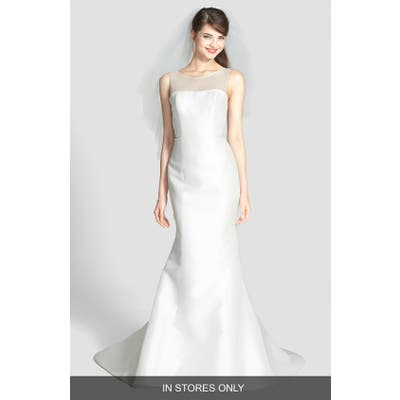 Amsale Preston Silk Magnolia Sheath Wedding Dress