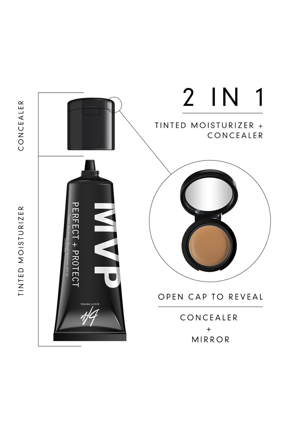 Image of Beauty For Real MVP Perfect+Protect 2-IN-1 SPF25 Tinted Moisturizer and Concealer - Medium #3