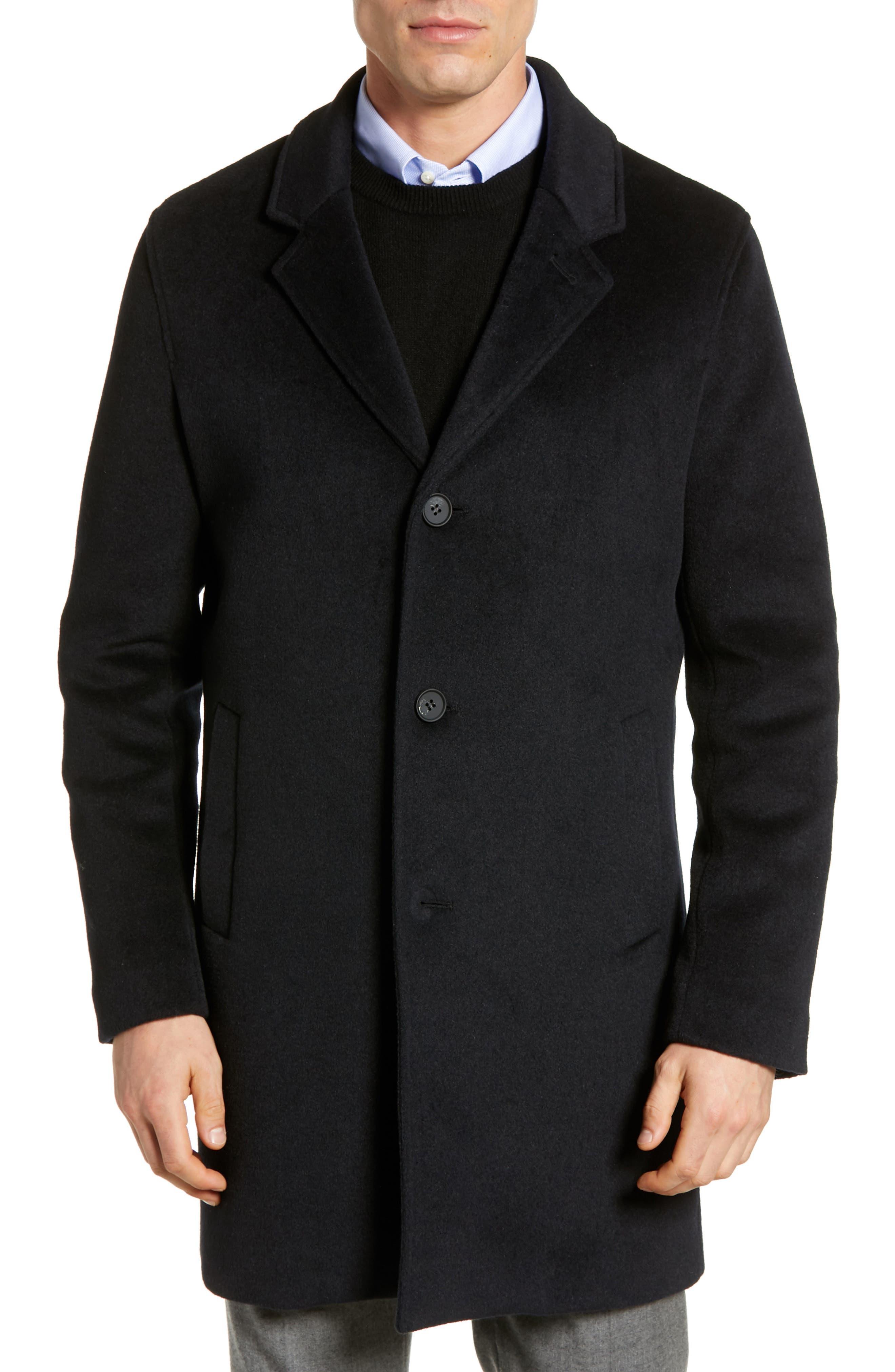 Regular Fit Stretch Wool Coat