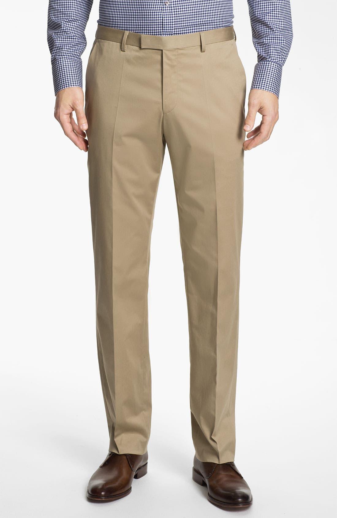 ,                             BOSS Black 'James/Sharp' Cotton Suit,                             Alternate thumbnail 5, color,                             291