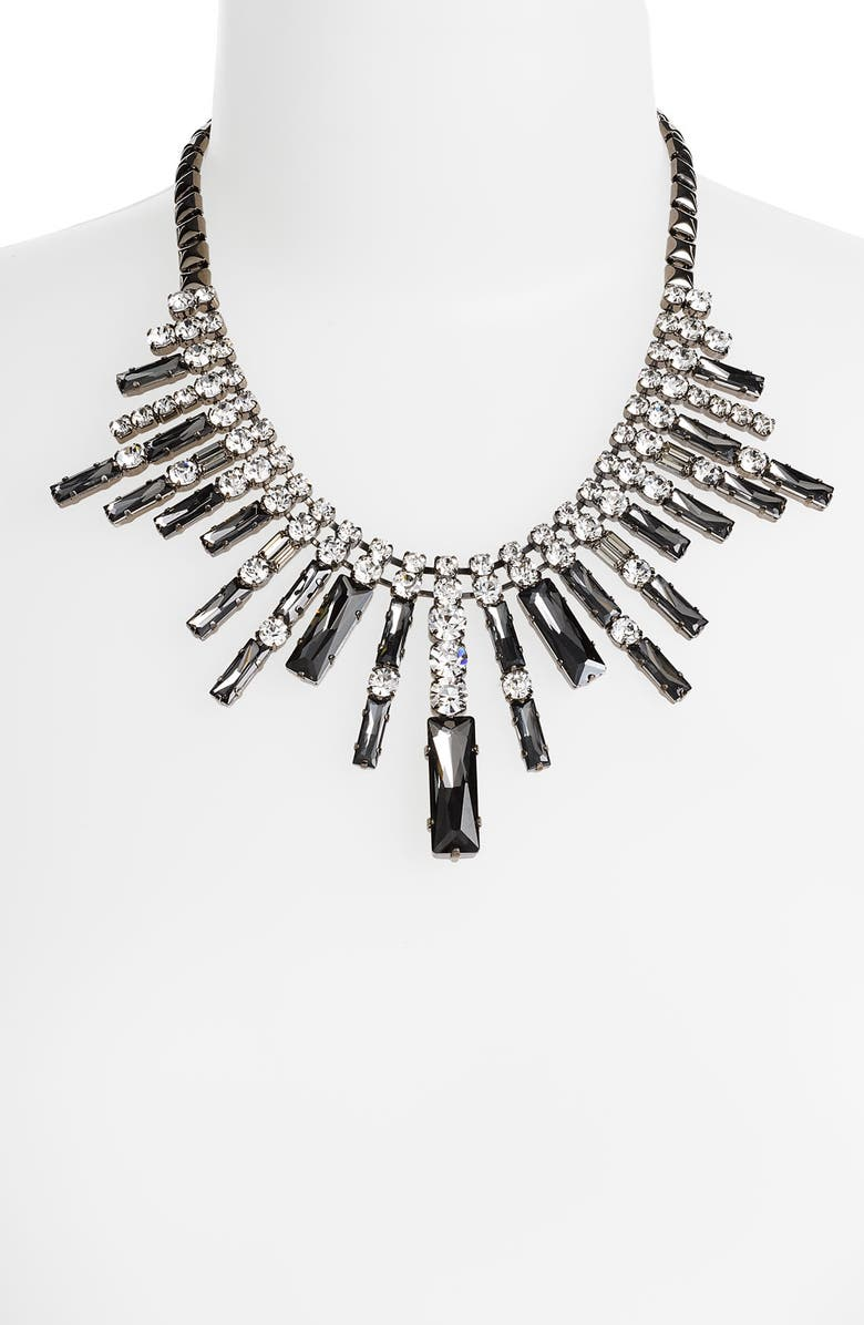 CARA Accessories Crystal Spike Frontal Necklace, Main, color, 001