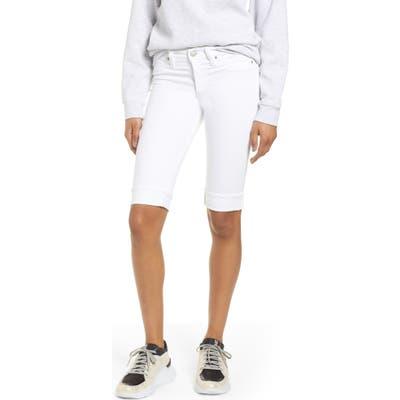 Hudson Jeans Amelia Cuff Bermuda Shorts, White