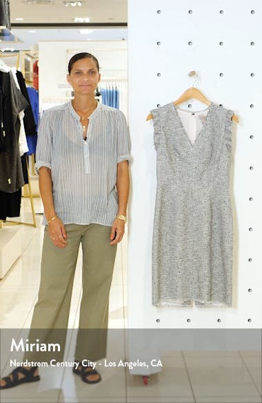 Tweed Sleeveless Sheath Dress, sales video thumbnail