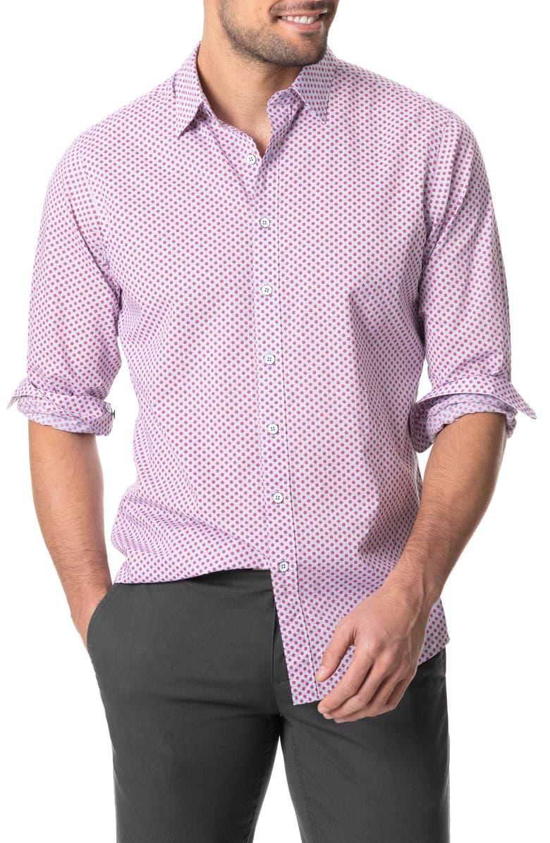 RODD & GUNN Green Bay Floral Button-Up Shirt, Main, color, CORNFLOWER