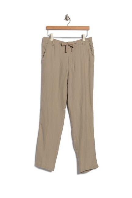 Image of Toscano Linen Drawstring Pants