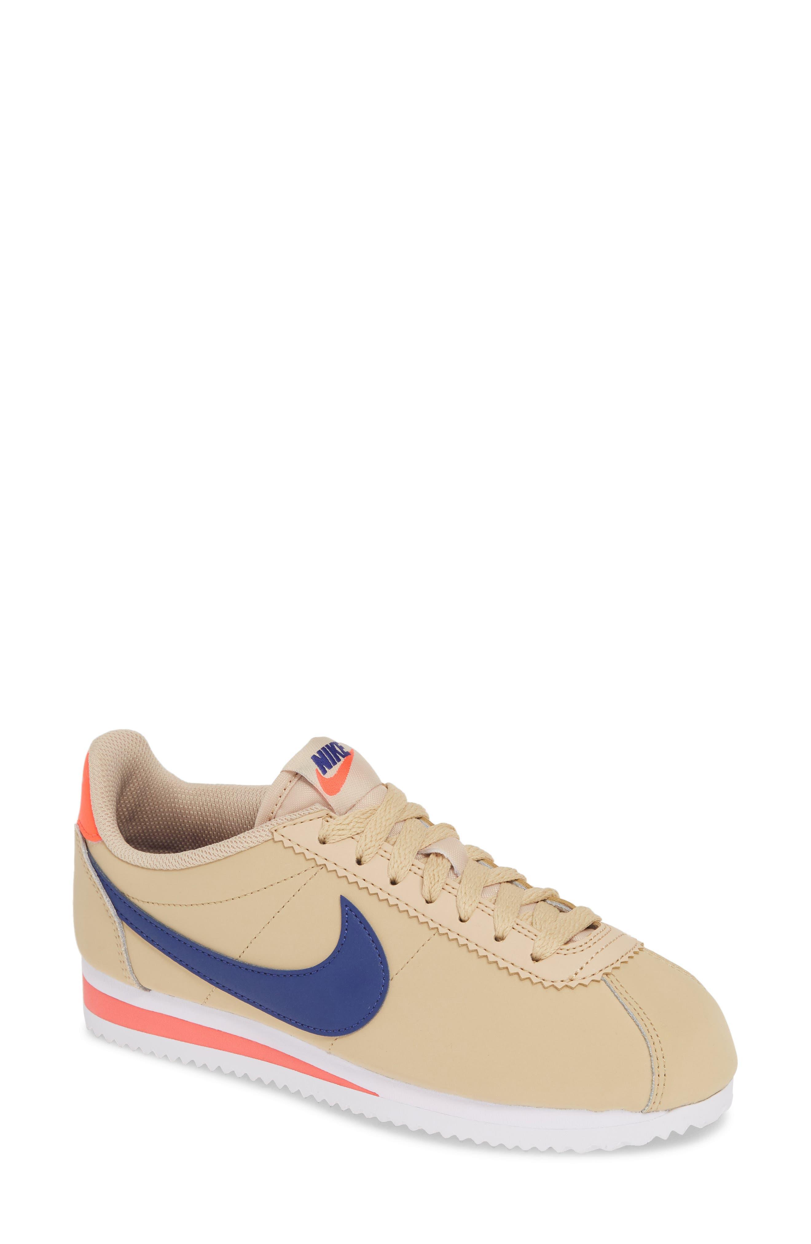 Classic Cortez Sneaker, Main, color, DESERT ORE/ DEEP ROYAL BLUE