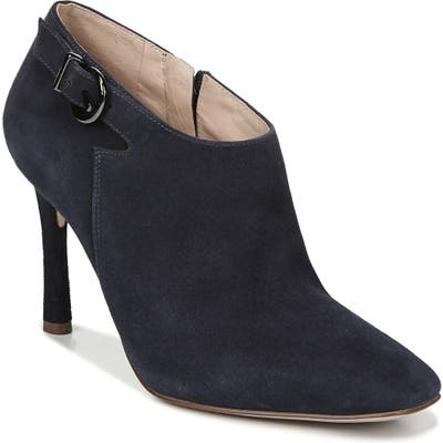 27 Edit Penny Square Toe Buckle Bootie- Blue