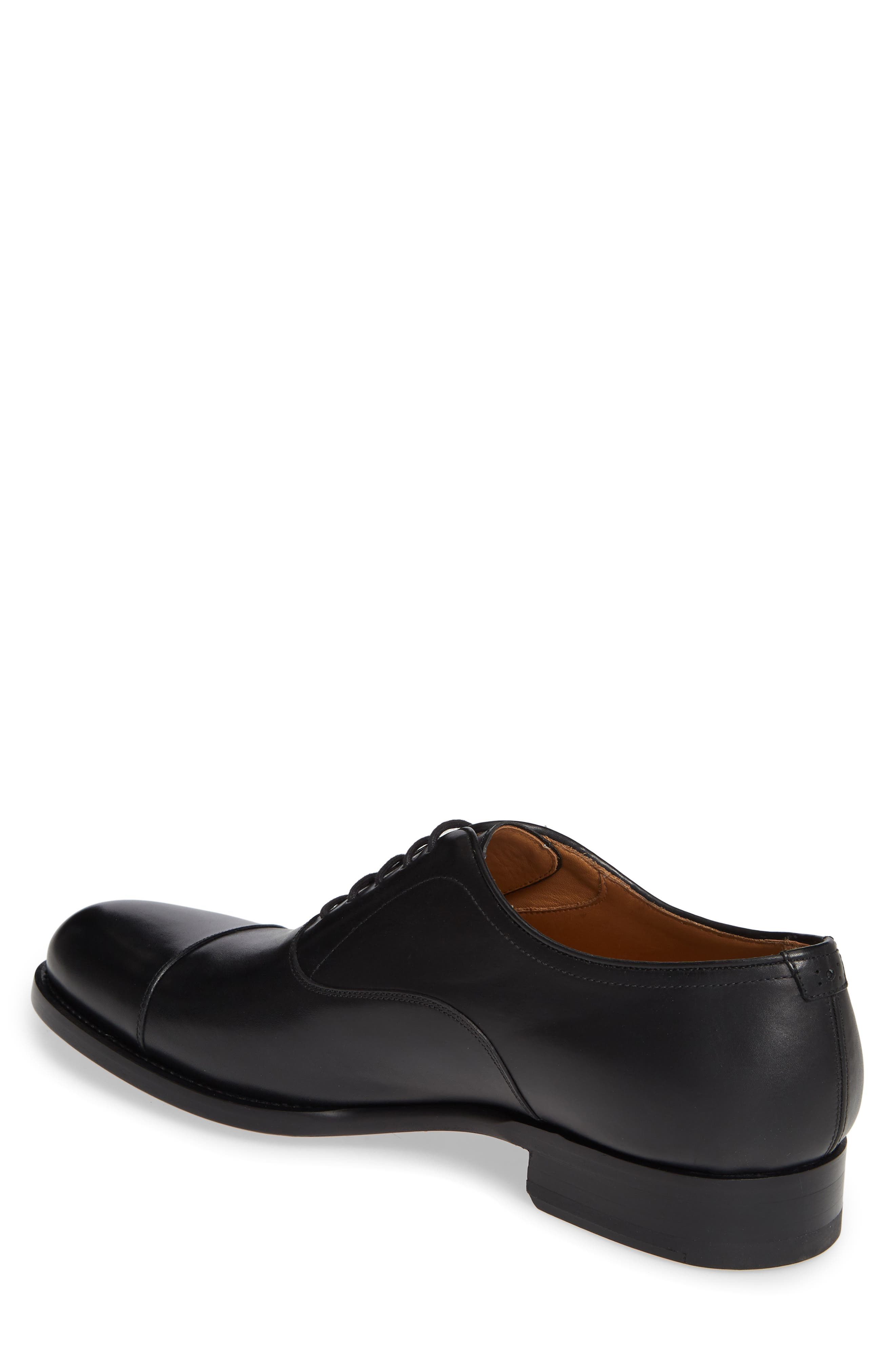 ,                             Jefferson Cap Toe Oxford,                             Alternate thumbnail 2, color,                             BLACK LEATHER