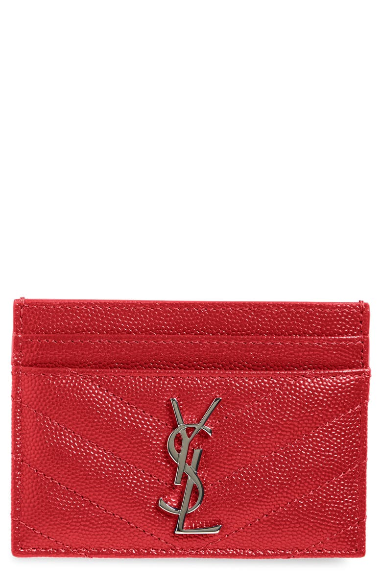 318c73f5541 Saint Laurent 'Monogram' Credit Card Case | Nordstrom