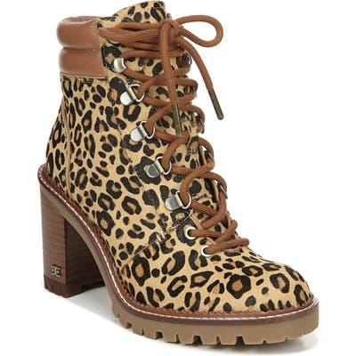 Sam Edelman Sade Genuine Calf Hair Lace-Up Boot, Brown