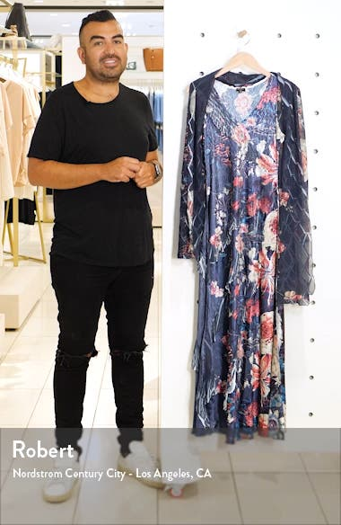 Side Ruffle Charmeuse & Chiffon Maxi Dress with Shawl, sales video thumbnail