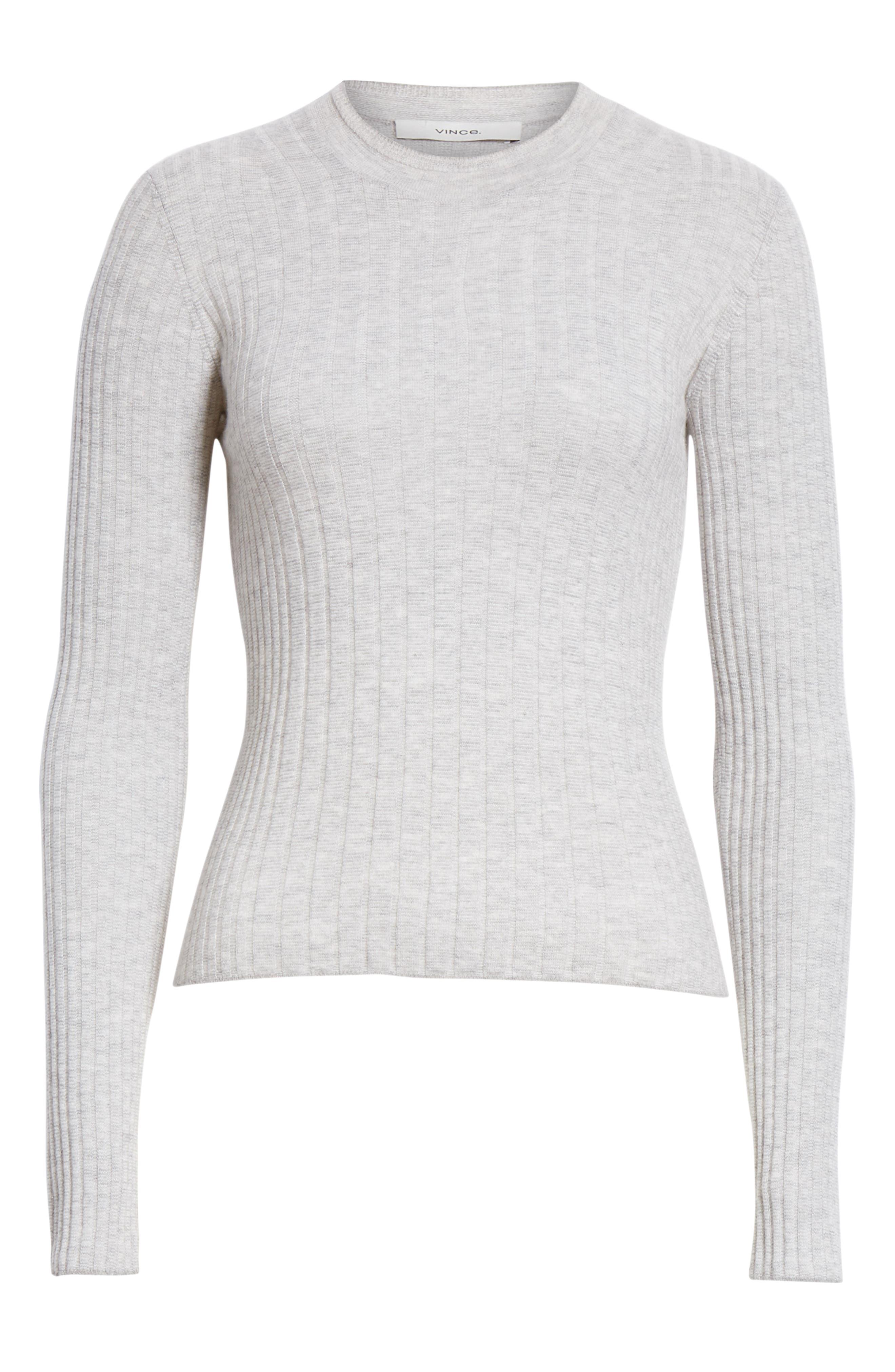 ,                             Mixed Rib Stitch Sweater,                             Alternate thumbnail 6, color,                             020
