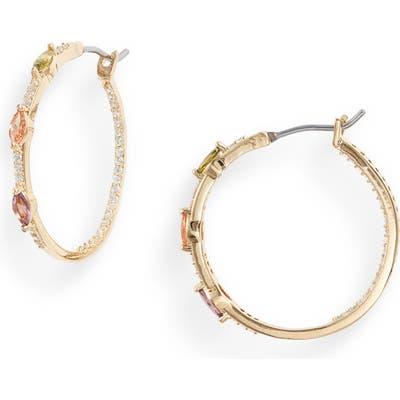 Nordstrom Color Crystal Inside-Out Hoop Earrings