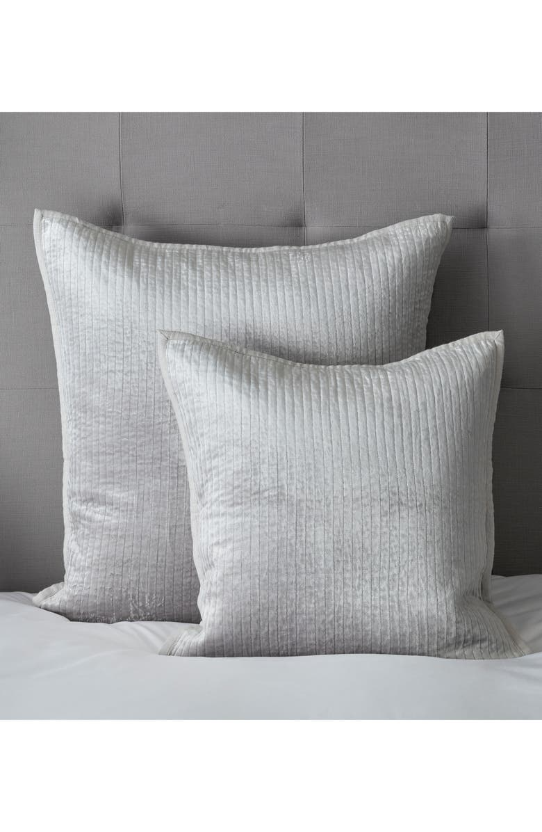 THE WHITE COMPANY Vienne Cushion Cover, Main, color, SILVER