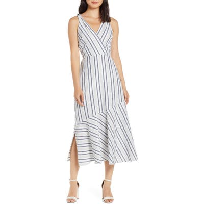 Sam Edelman Metallic Stripe Sundress, White