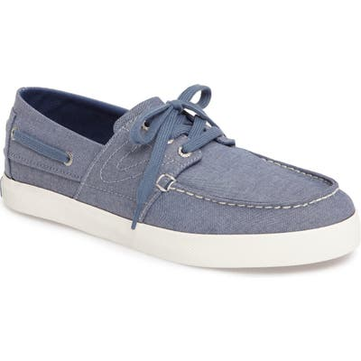 Tretorn Motto Boat Shoe, Blue