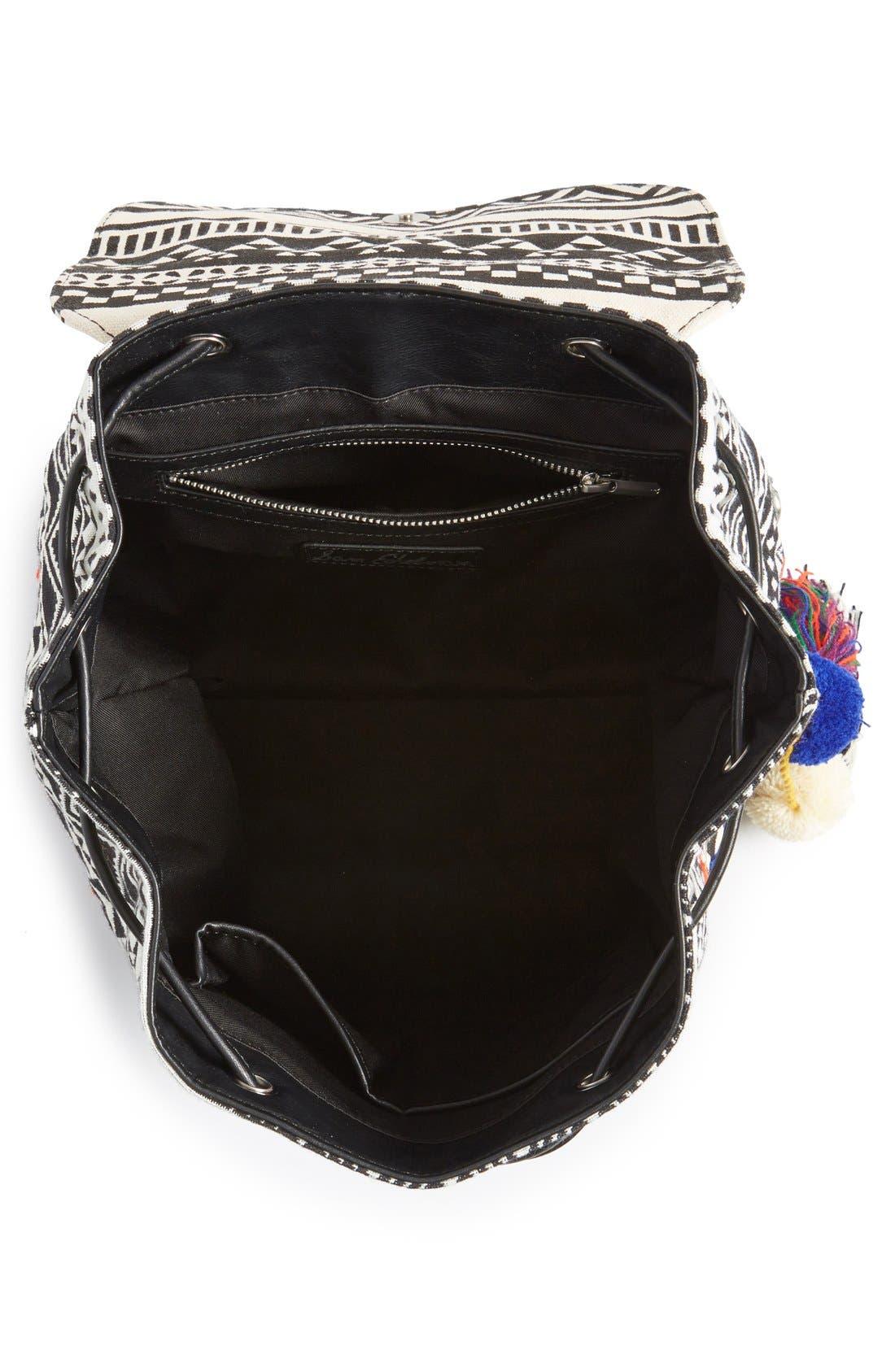 ,                             'Bella' Woven Backpack,                             Alternate thumbnail 5, color,                             001