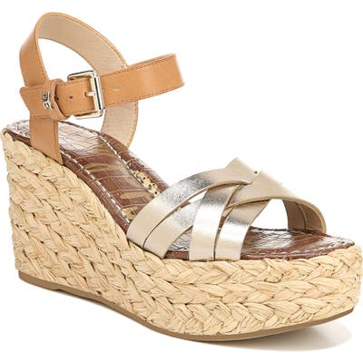 Sam Edelman Darline Platform Wedge Sandal- Metallic