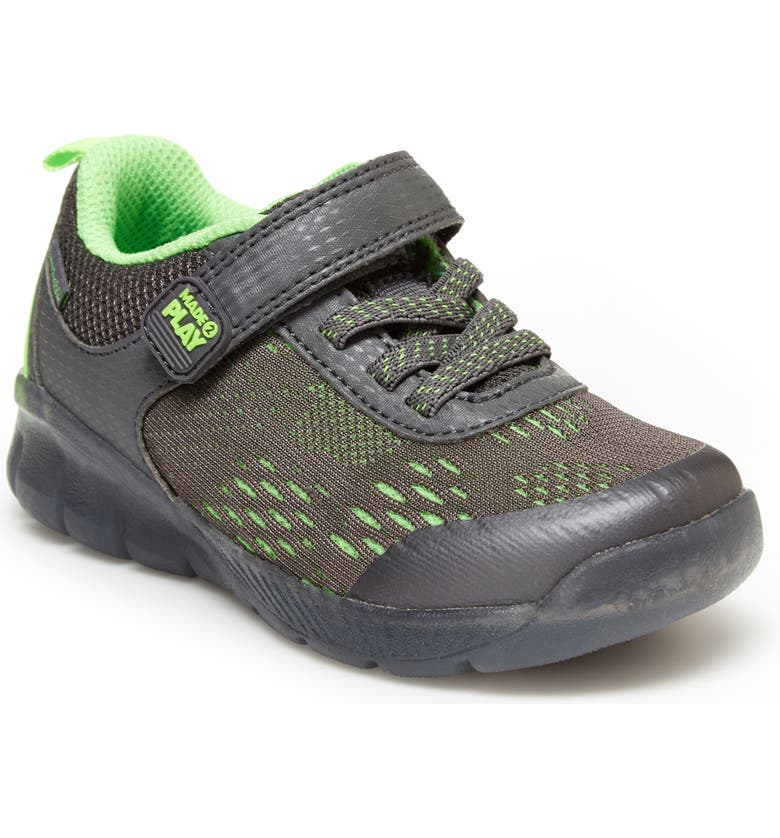 STRIDE RITE M2P Lighted Neo Sneaker, Main, color, GREY/ LIME