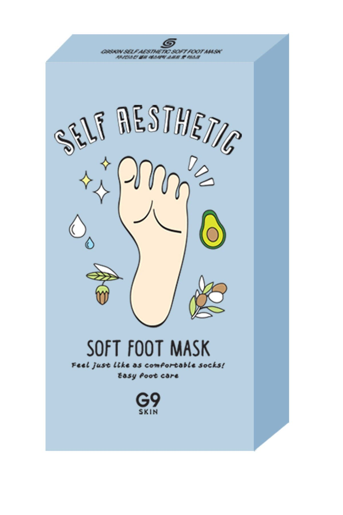 Image of G9SKIN Self Aesthetic Soft Foot Mask - 1 Box of 5 Sheets