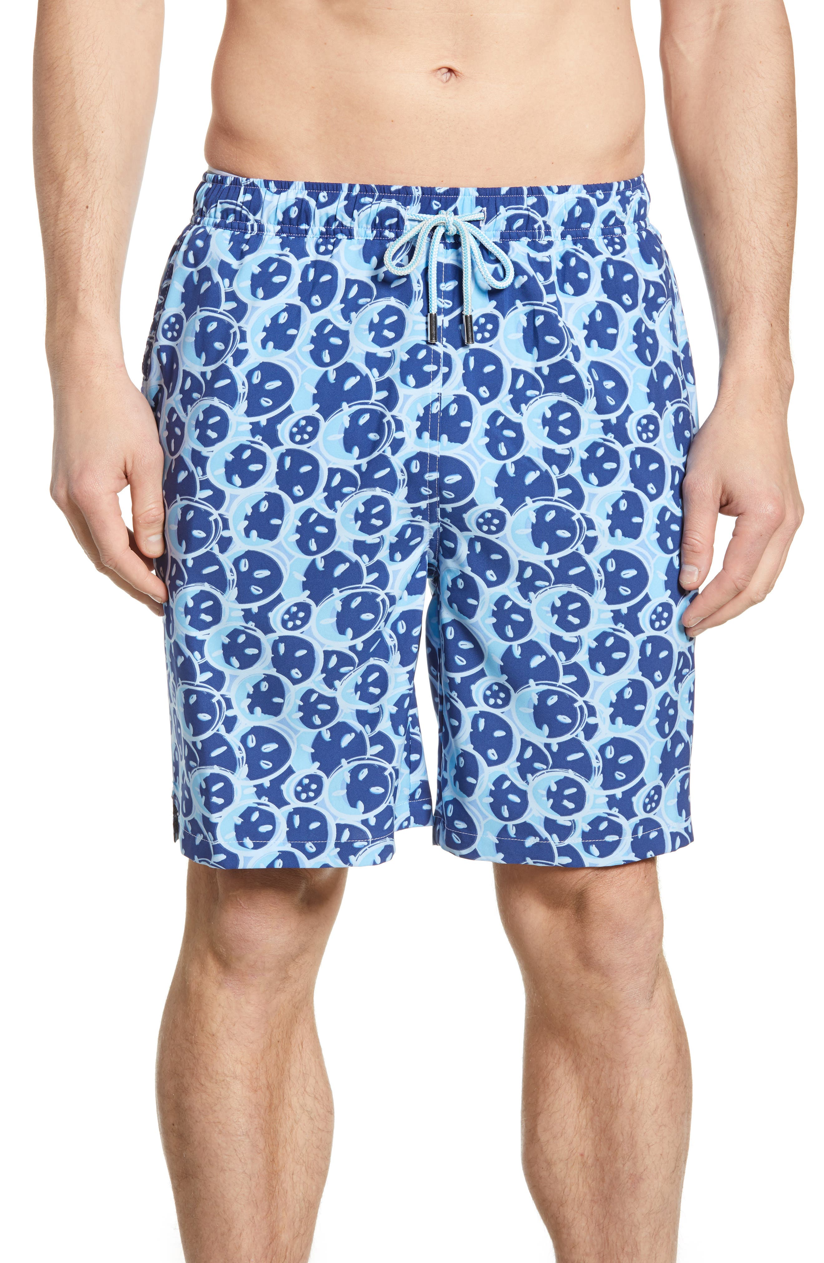 Peter Millar Sand Dollars Swim Trunks, Blue