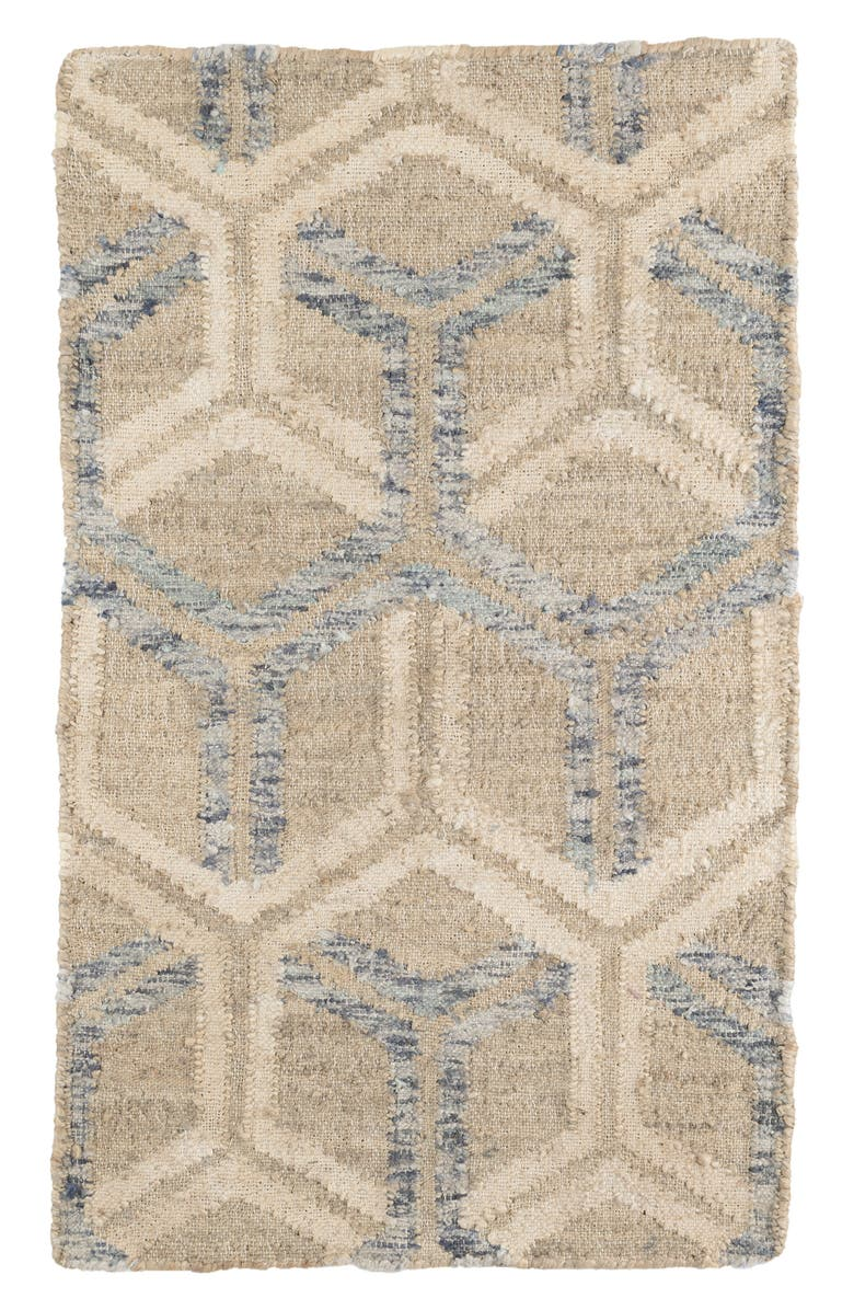 DASH & ALBERT Tala Woven Jute & Cotton Rug, Main, color, BLUE