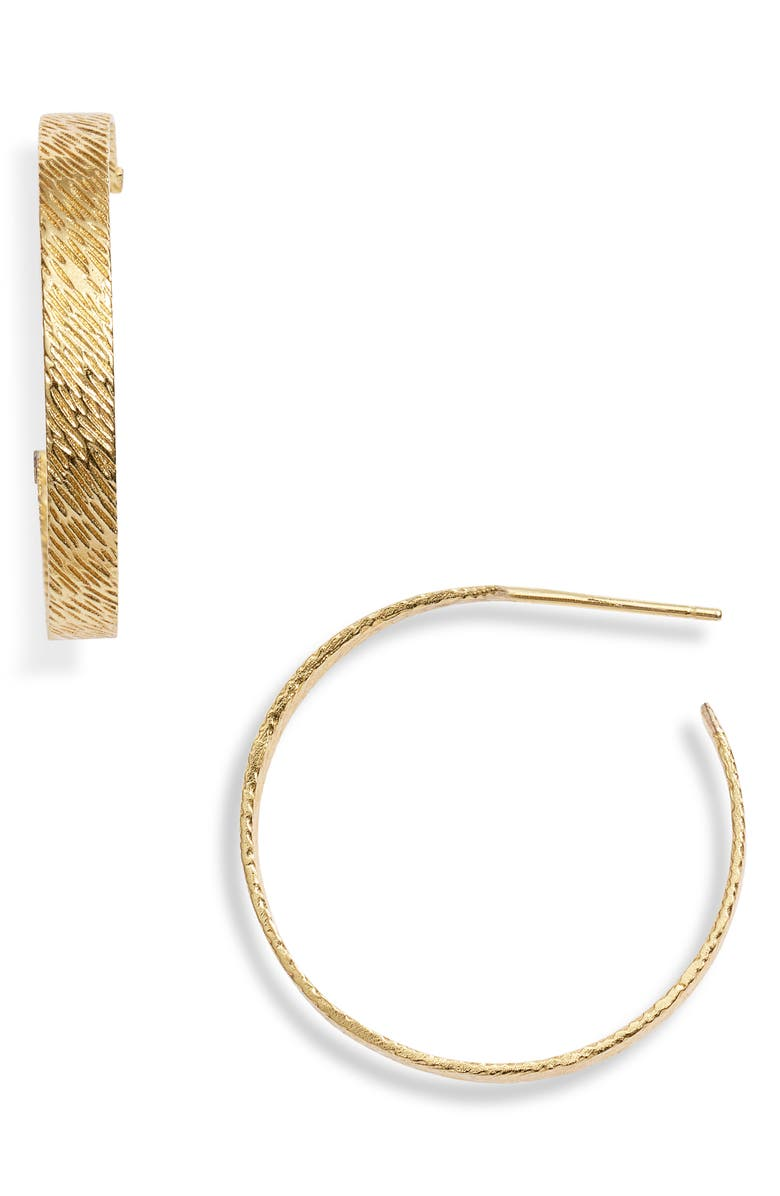 GORJANA Bryce Hoop Earrings, Main, color, GOLD