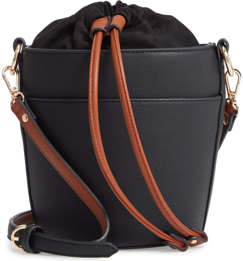 CHELSEA28 Izzy Faux Leather Bucket Bag, Main, color, 001