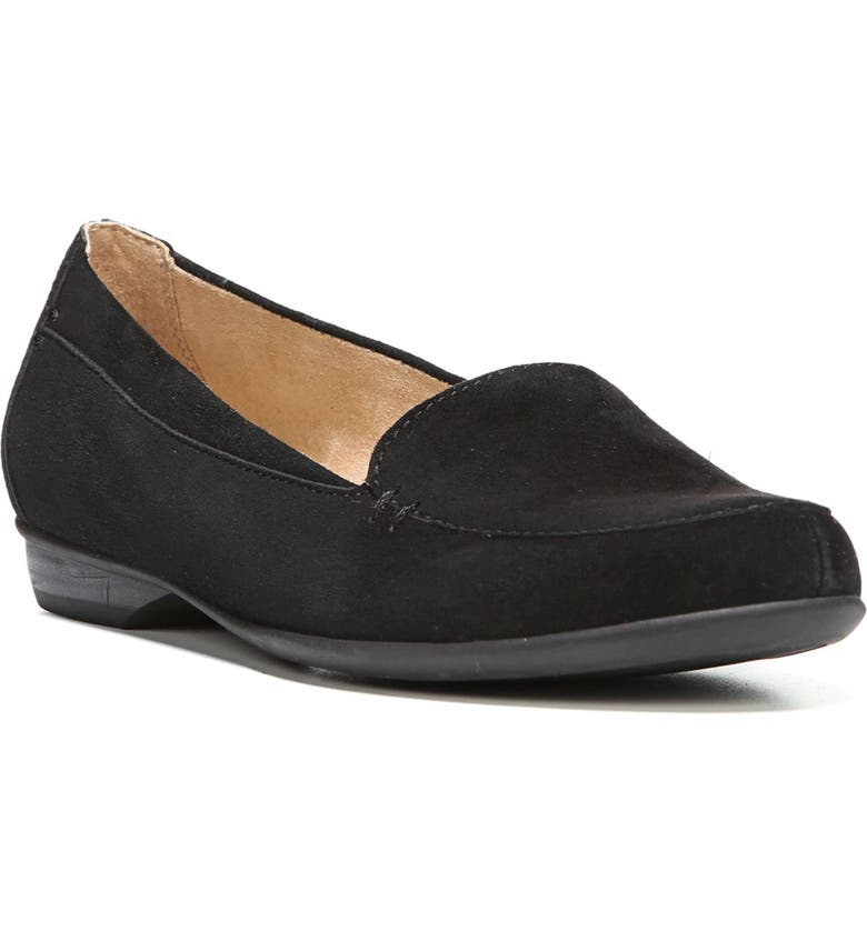 NATURALIZER 'Saban' Leather Loafer, Main, color, BLACK SUEDE