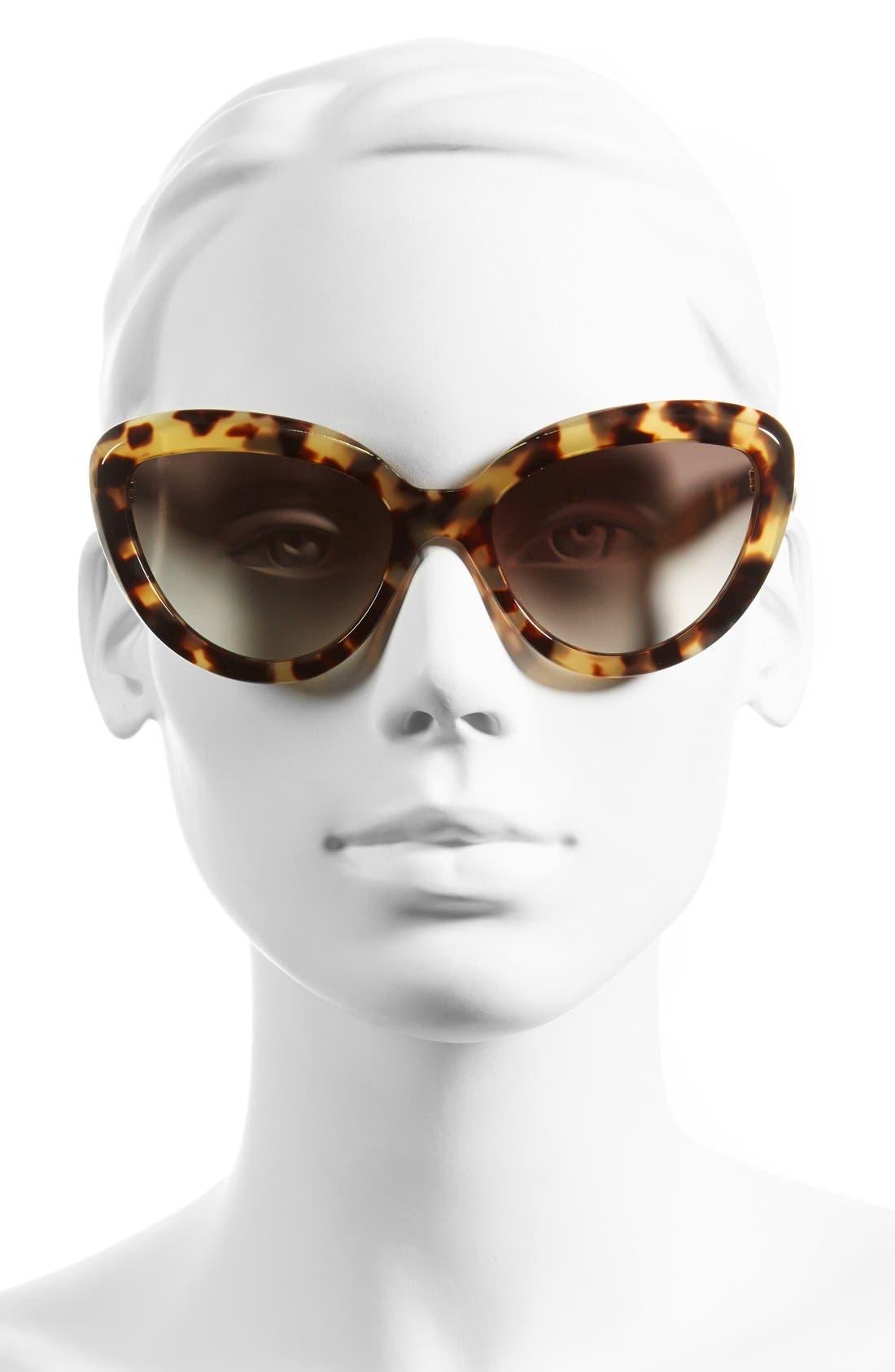 ,                             57mm Cat Eye Sunglasses,                             Alternate thumbnail 4, color,                             200