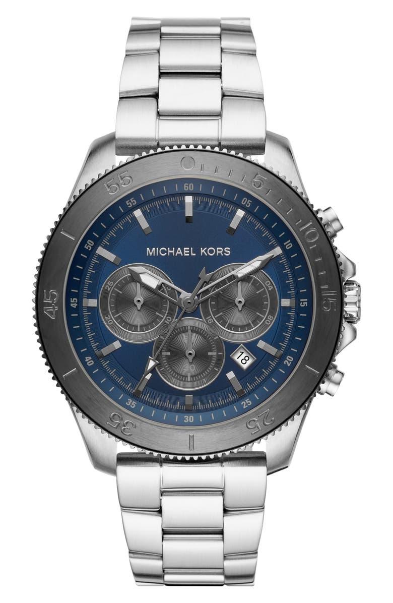 MICHAEL KORS Theroux Bracelet Watch, 45mm, Main, color, 040