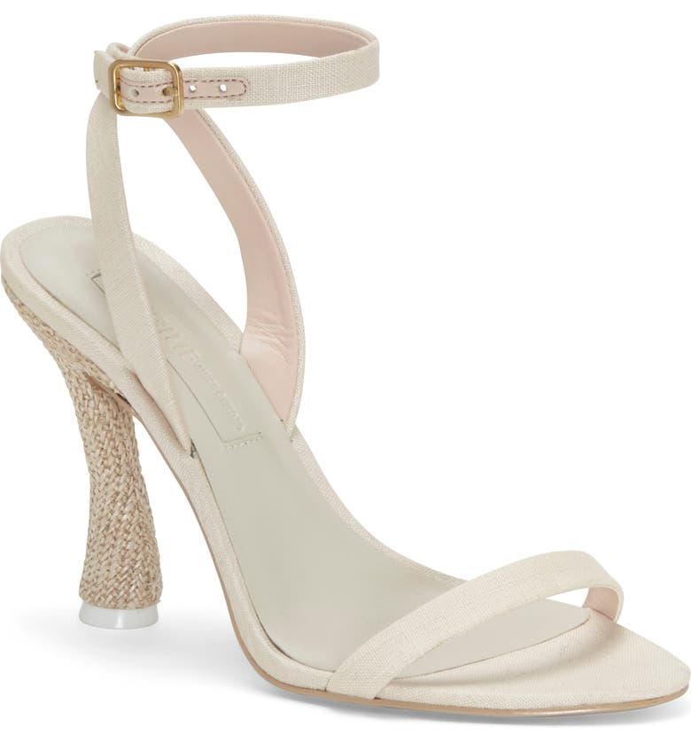 IMAGINE BY VINCE CAMUTO Fana Ankle Strap Sandal, Main, color, SAND FABRIC
