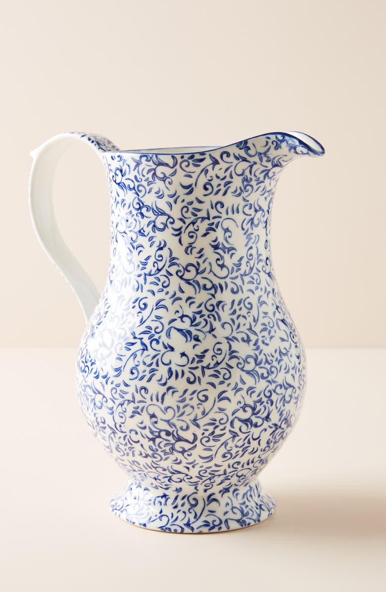 ANTHROPOLOGIE Attingham Pitcher, Main, color, BLUE