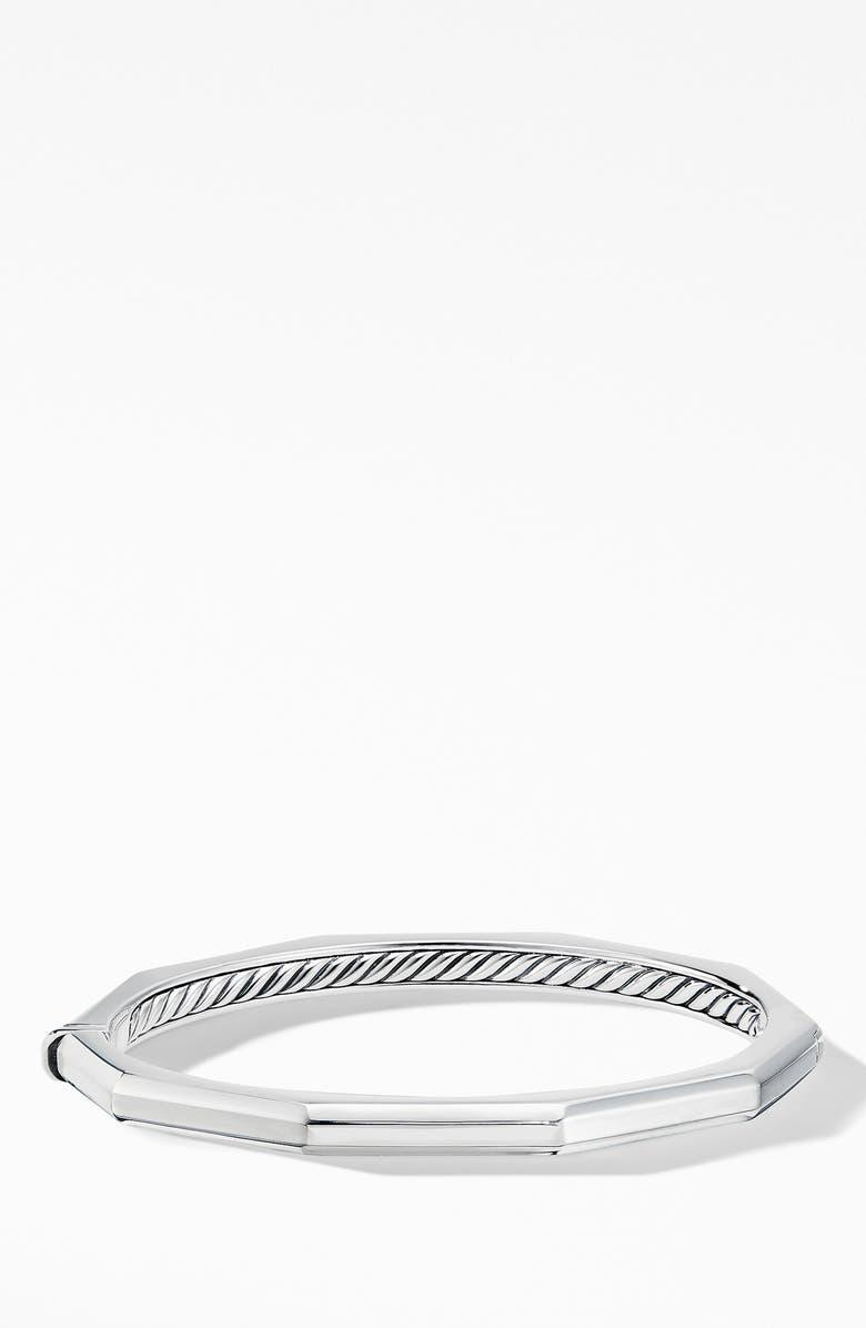 DAVID YURMAN Stax Faceted Bracelet, Main, color, SILVER