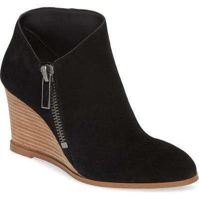 1.state Kaleb Wedge Bootie- Black