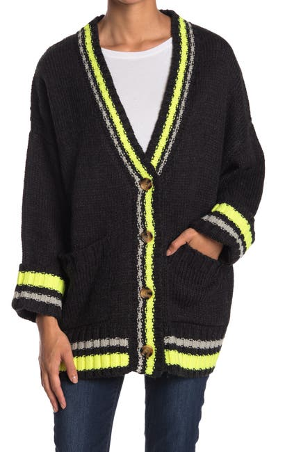 Image of J.O.A. Contrasting Fluorescent Cardigan