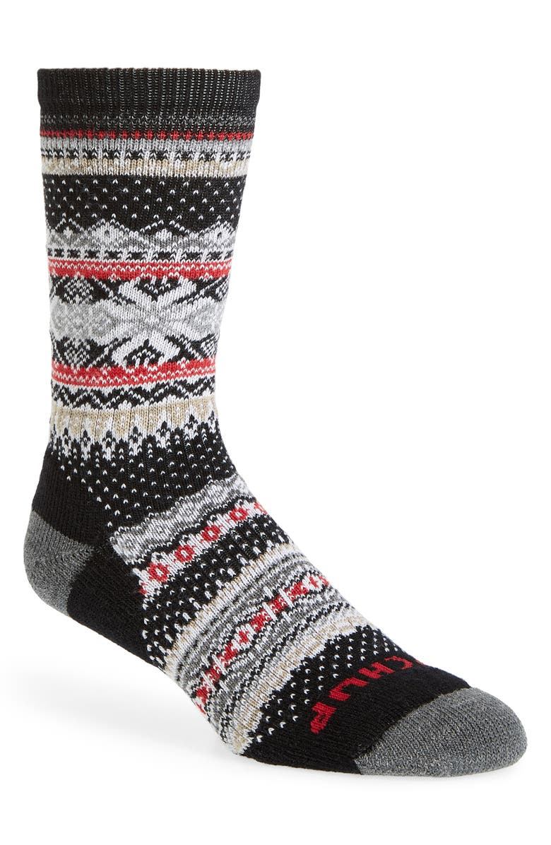 SMARTWOOL x CHUP Premium Hansker Crew Socks, Main, color, BLACK