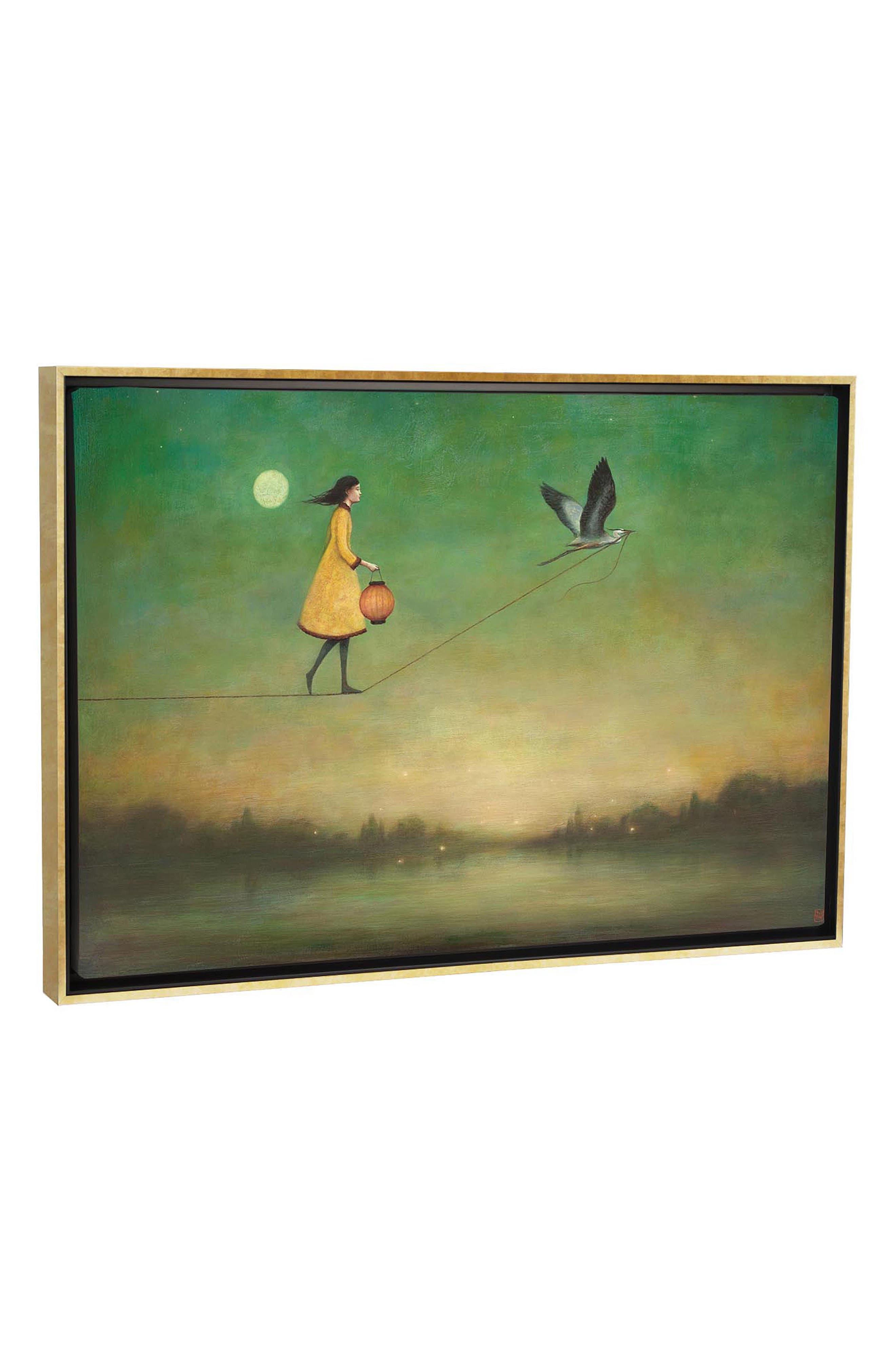 Blue Moon Expedition Giclée Print Framed Canvas Art, Main, color, YELLOW