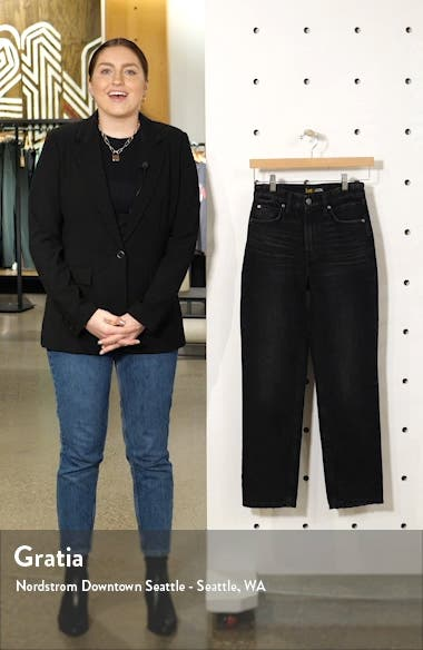 High Waist Ankle Straight Leg Jeans, sales video thumbnail