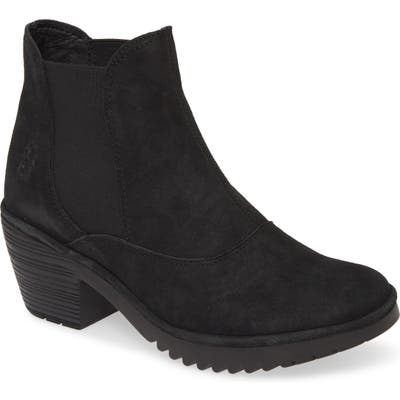 Fly London Wote Chelsea Boot, Black