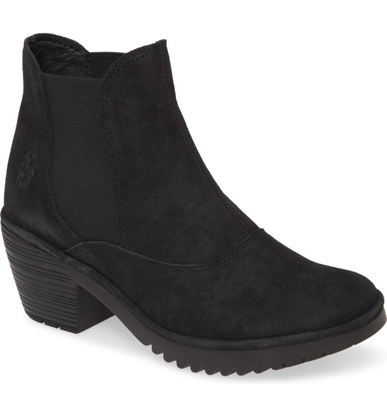 FLY LONDON Wote Chelsea Boot, Main, color, BLACK LEATHER