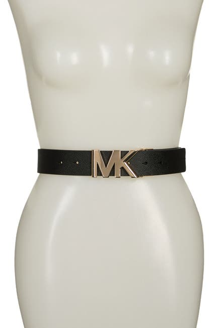 Image of MICHAEL Michael Kors Reversible MK Buckle Belt