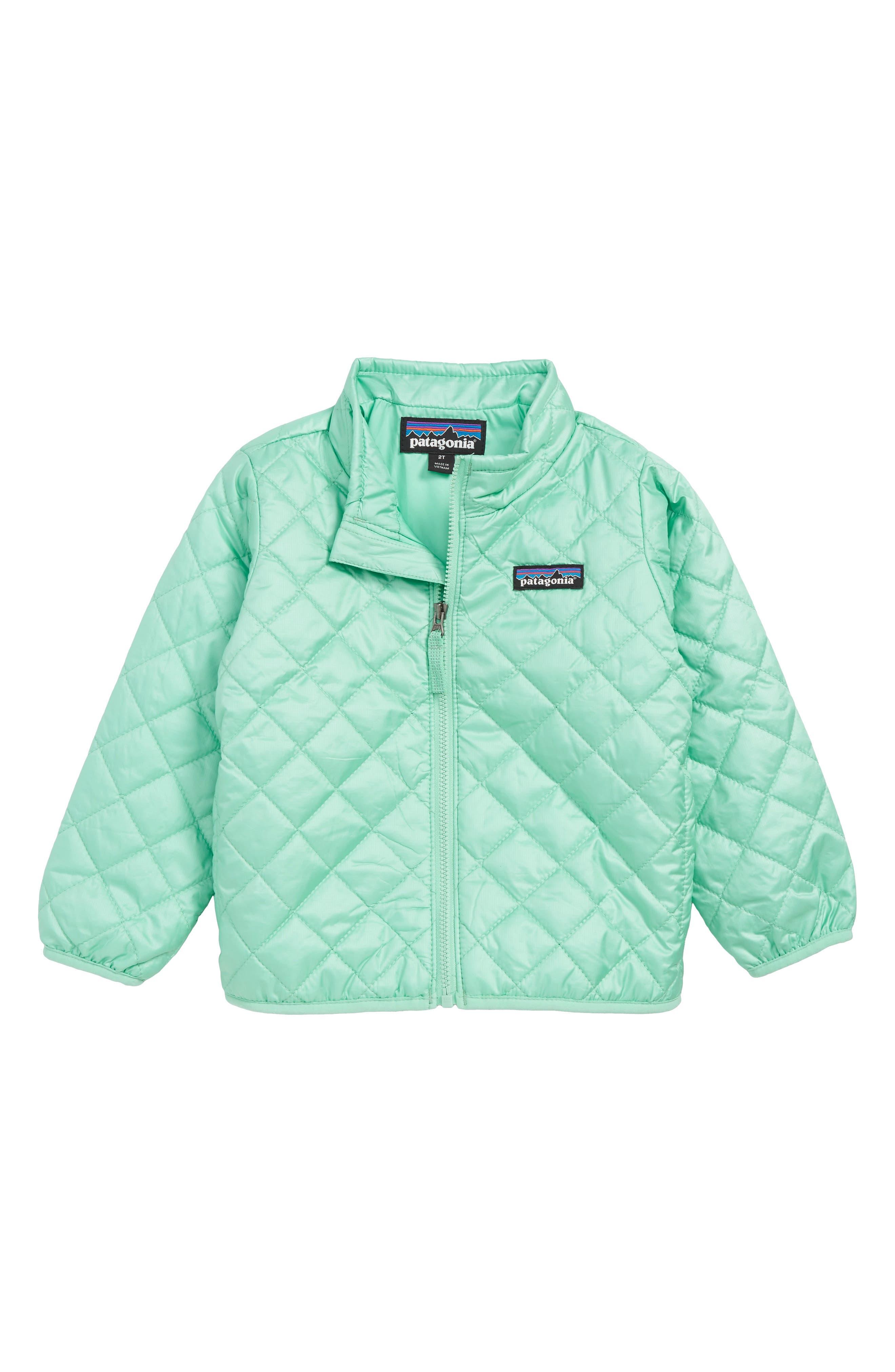,                             Nano Puff<sup>®</sup> Quilted Water Resistant Jacket,                             Main thumbnail 1, color,                             VJOSA GREEN