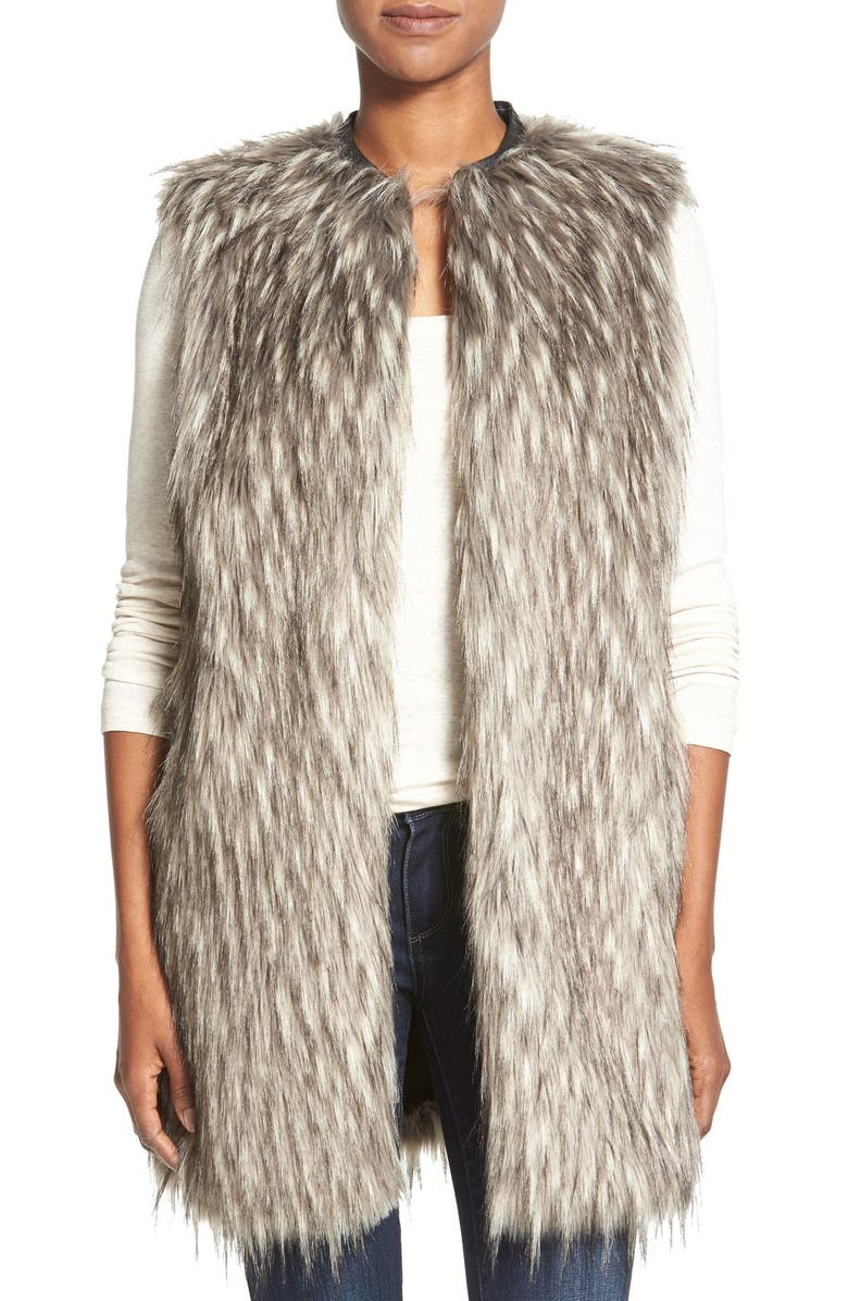 MATTY M Faux Fur Vest, Main, color, 020