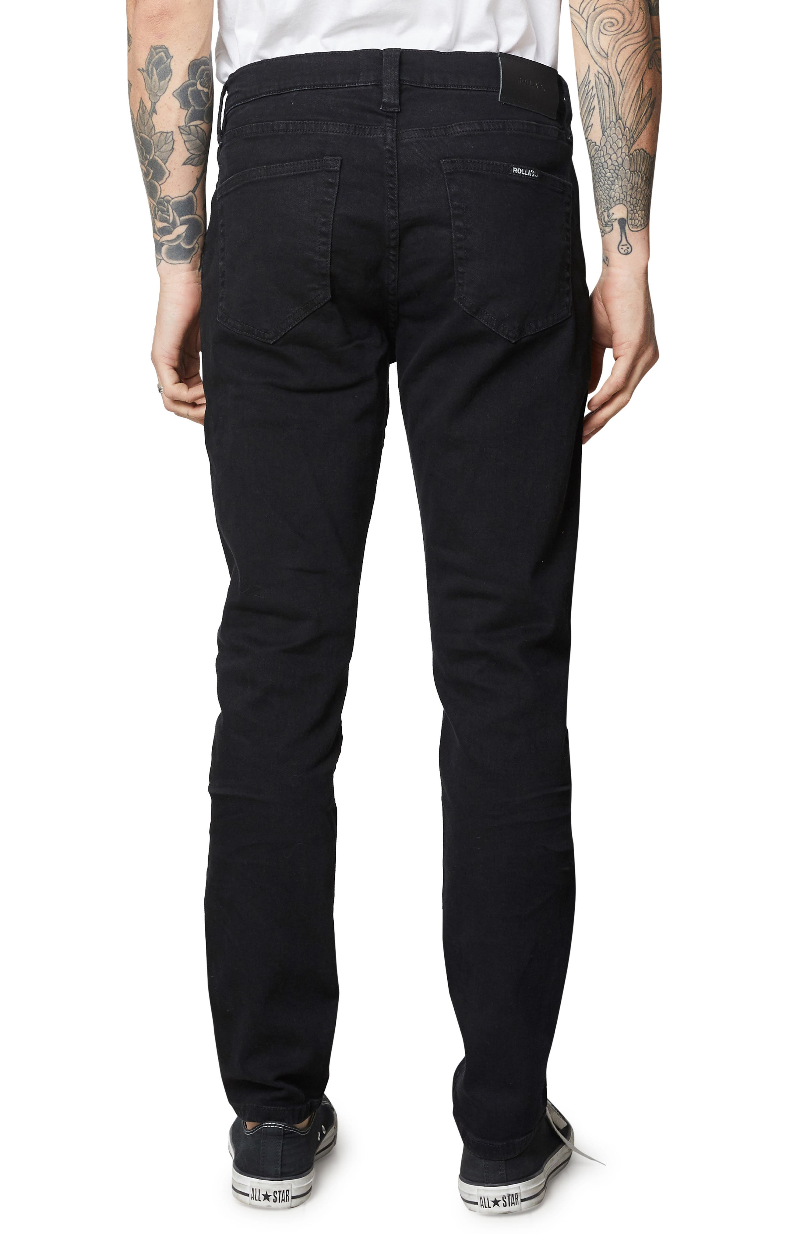,                             Tim Slim Fit Jeans,                             Alternate thumbnail 2, color,                             BLACK RAVEN