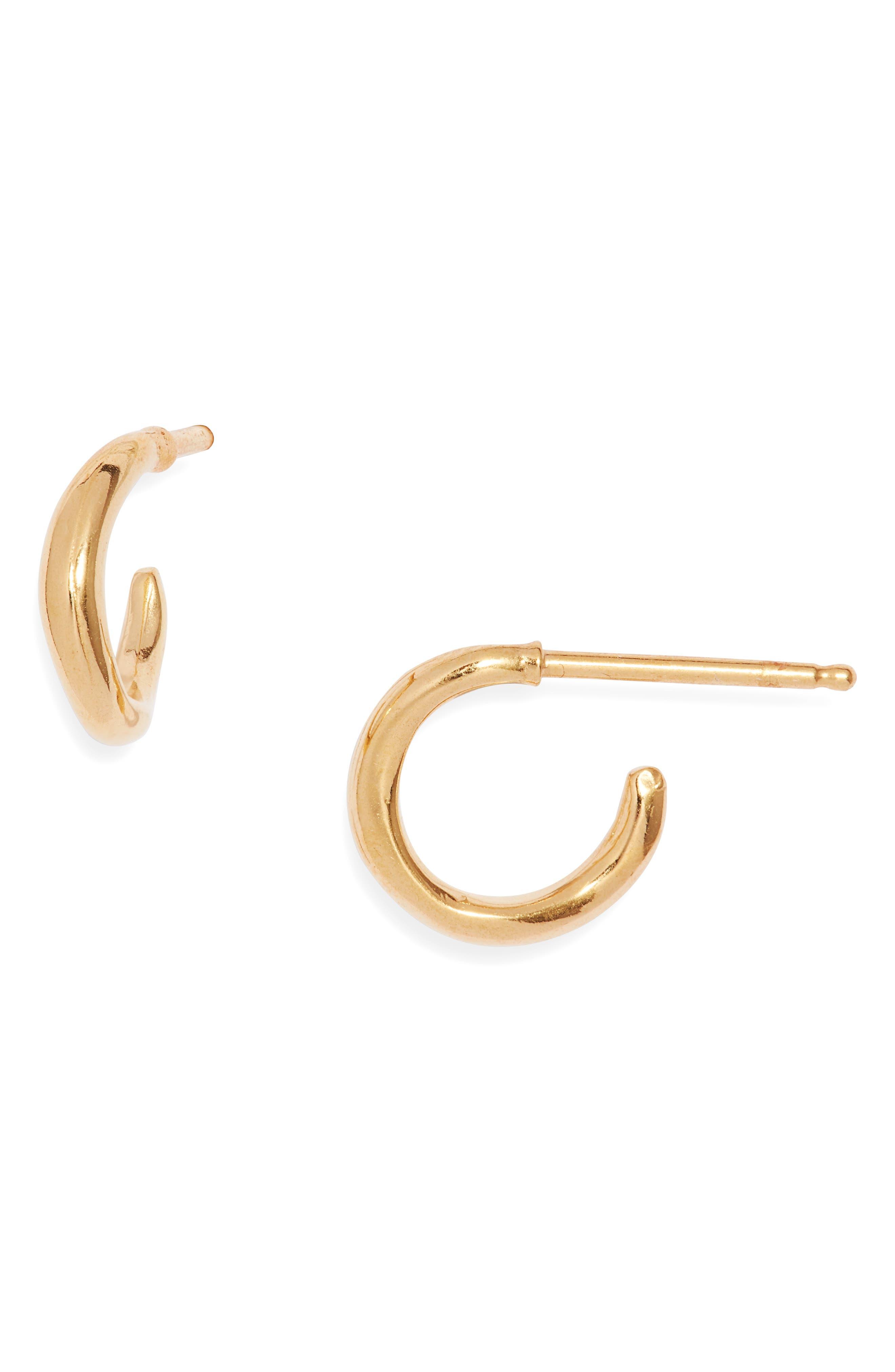 Vermeil Huggie Hoop Earrings
