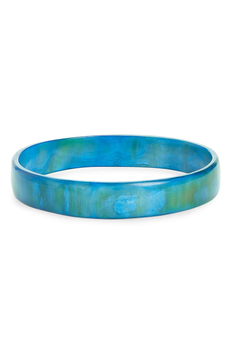 AKOLA Horn Bangle, Main, color, BLUE