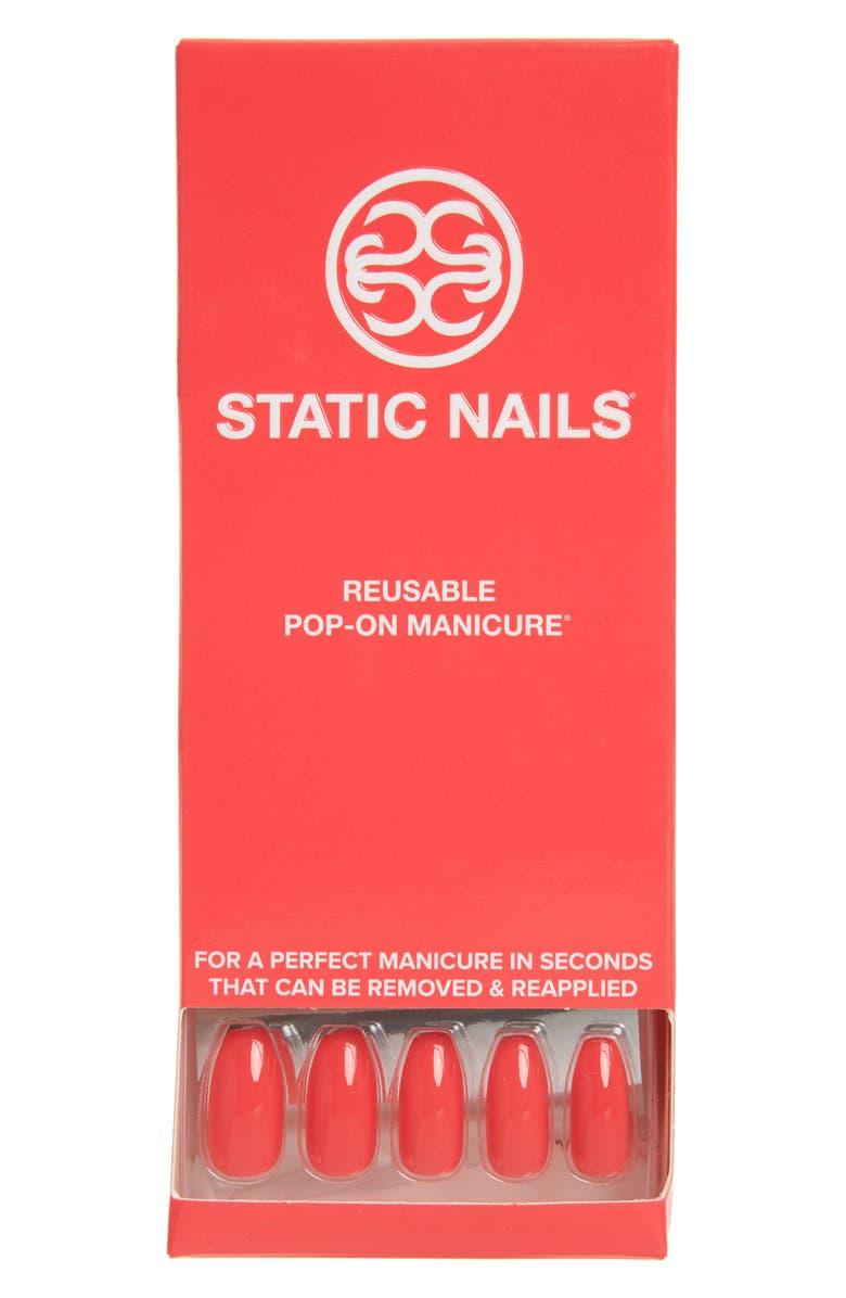 STATIC NAILS Neon Watermelon Pop-On Reusable Manicure Set, Main, color, NEON WATERMELON