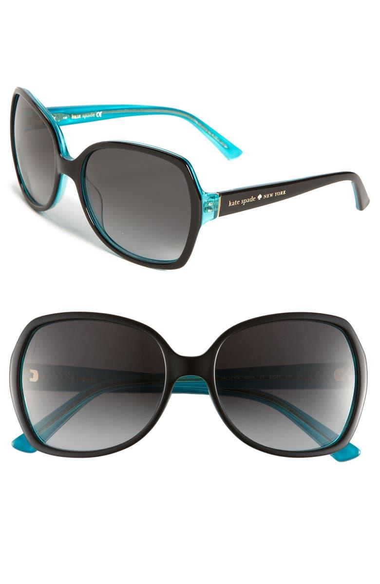 KATE SPADE NEW YORK 'halsey' 57mm sunglasses, Main, color, 001