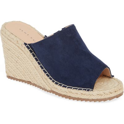 Very Volatile Mused Espadrille Wedge Slide Sandal, Blue